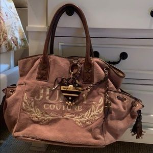 Juicy couture velour tote